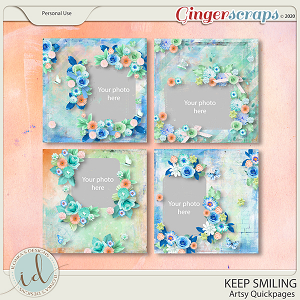 Keep Smiling Artsy Quickpages by Ilonka's Designs