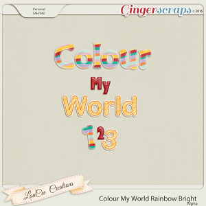 Colour My World Rainbow Bright Alpha
