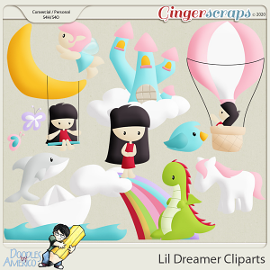 Doodles By Americo: Lil Dreamer Cliparts