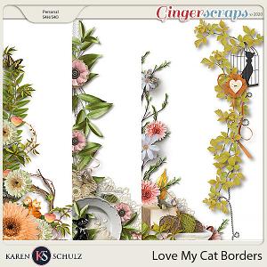 Love my Cat Borders by Karen Schulz