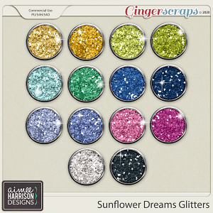 Sunflower Dreams Glitters by Aimee Harrison