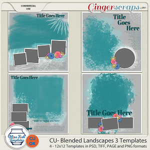 CU- Blended Landscapes 3 Templates by Miss Fish