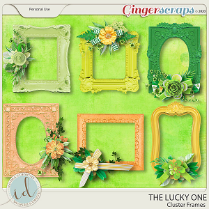 The Lucky One Cluster Frames by Ilonka's Designs