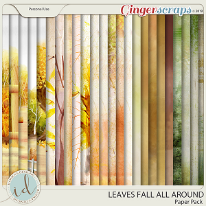 Leaves Fall All Around Paper Pack by Ilonka's Designs