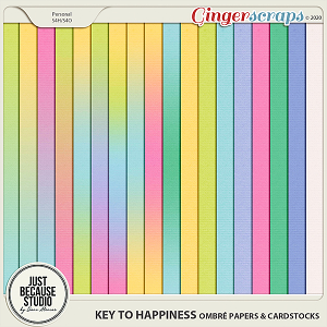 Key to Happiness Ombré Papers & Cardstocks by JB Studio
