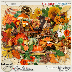 Autumn blessings Pack of elements by PrelestnayaP Design and CarolW Designs