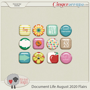 Document Life August 2020 Flairs by Luv Ewe Designs