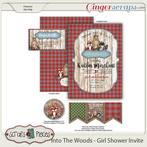 Into The Woods Girl Baby Shower Invitation by Scraps N Pieces