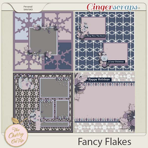 The Cherry On Top:  Fancy Flakes templates
