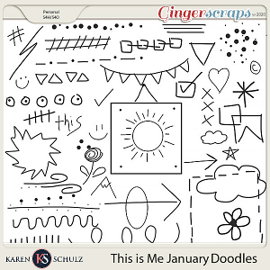 This is Me January Doodles by Karen Schulz