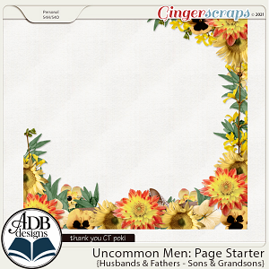 Uncommon Men: Husbands & Fathers Border Gift 01 by ADB Designs