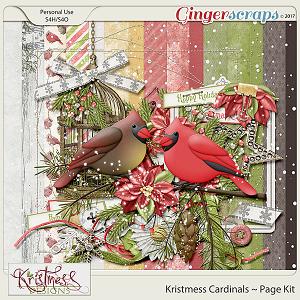 Kristmess Cardinals Page Kit