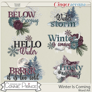 Winter Is Coming - Word Art Pack by Connie Prince