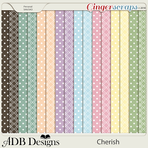 Cherish Diamond & Dots Paper
