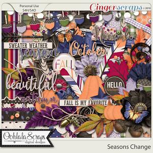 Seasons Change Digital Scrapbook Kit
