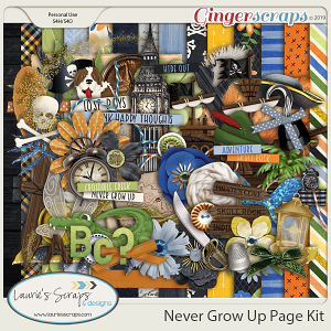 Never Grow Up Page Kit