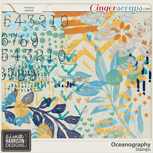 Oceanography Stamps by Aimee Harrison