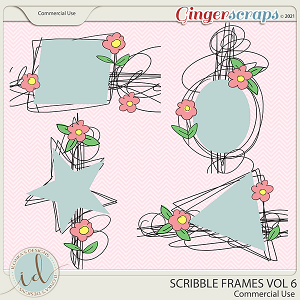 CU Scribble Frames Vol 6 by Ilonka's Designs