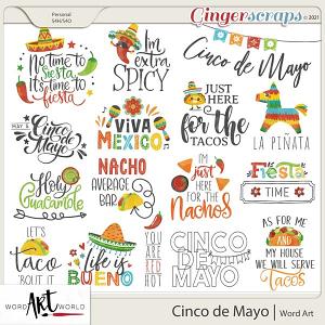 Cinco de Mayo Word Art