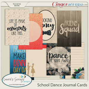 School Dance Journal Cards