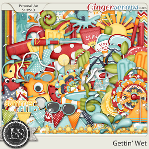 Gettin Wet Digital Scrapbooking Kit