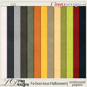 Fa-BOO-lous Halloween: Embossed Papers by LDragDesigns
