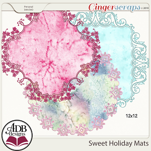 Sweet Holiday Mats by ADB Designs