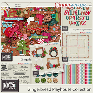 Gingerbread Playhouse Collection by Aimee Harrison