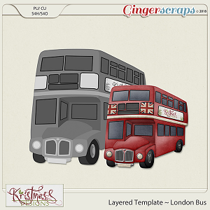 CU London Bus Layered Template