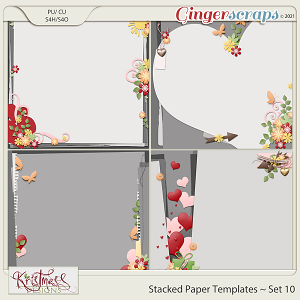 Stacked Paper Templates Set 10