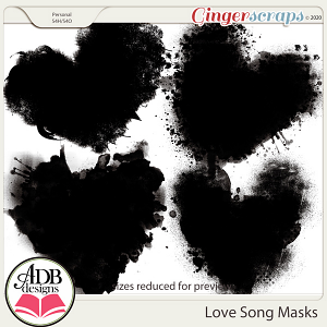 Love Song Masks by ADB Designs