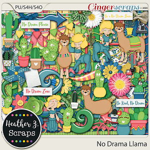 No Drama Llama KIT by Heather Z Scraps