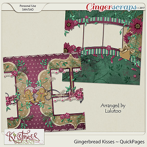 Gingerbread Kisses QuickPages