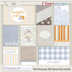 Farmhouse Fall Journal Cards for Pocket Scrapbooking by Shepherd Studio
