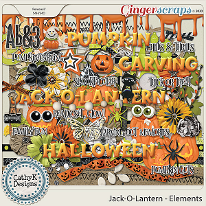 Jack-O-Lantern - Elements by CathyK Designs