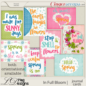 In Full Bloom: Journal Cards by LDragDesigns
