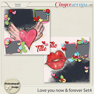 Love you Now & Forever Templates Set4