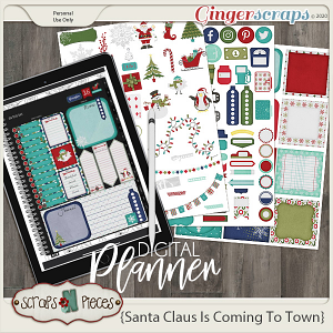 Santa Claus is Coming to Town Planner Pieces - Scraps N Pieces