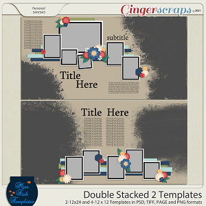 Double Stacked 2 Templates by Miss Fish
