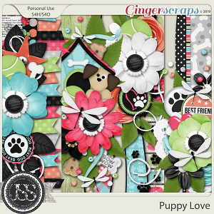 Puppy Love Page Borders