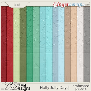 Holly Jolly Days: Embossed Papers by LDragDesigns