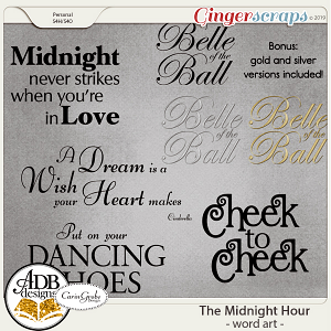 The Midnight Hour Word Art by ADB Designs