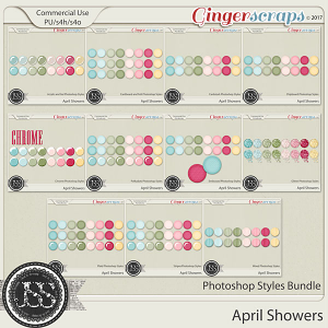 April Showers CU Photoshop Styles Bundle