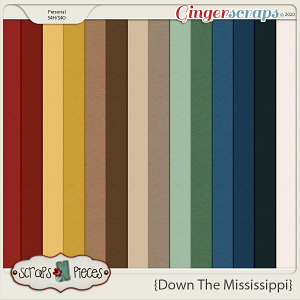 Down the Mississippi Cardstocks by Scraps N Pieces