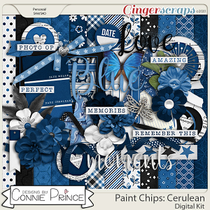 Paint Chips Cerulean - Kit by Connie Prince