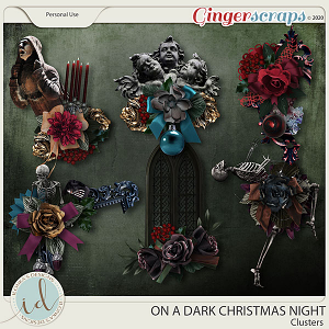 On A Dark Christmas Night Clusters by Ilonka's Designs