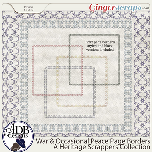 War and Occasional Peace Page Borders by ADB Designs