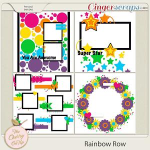 The Cherry On Top Rainbow Row Templates