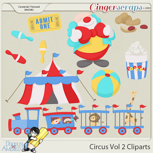 Doodles By Americo: Circus Vol 2 Cliparts
