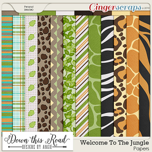 Welcome To The Jungle Paper Pack